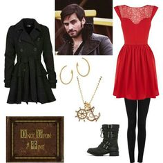 Now this outfit is perfect for a costume party but more nicer then the other one this one has a laced dress with black leggings with the once upon a time book you can make with a hardcover book!