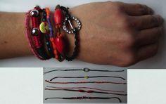 Bracelet brésilien d'amitié  lot de 6 bracelets Neuf  Artisanal