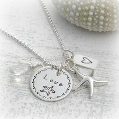 Jewelry, Starfish ocean necklace, $45, http://www.etsy.com/shop/divinestampings