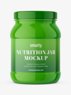 Nutrition jar, used in the pharmaceutical industry as the package for tablets, pills, or capsules. Shake, Mockup, Packaging Design, Nutrition, Jar, Pharmacy, Bottle, Room, Metabolism
