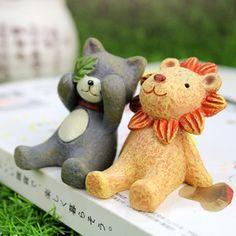 仰望天空小动物摆件日本zakka杂货鹿摄影道具家居电视柜装饰品猫的图片