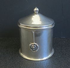ANTIQUE 925 STERLING SILVER TEA CADDY TRINKET BOX SIGNED AEJ BIRMINGHAM ENGLAND  #AlfredEJones