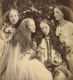 The Rosebud Garden of Girls - Julia Margaret Cameron. Albumen silver print, 1868.