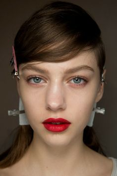 Christian Dior Couture Spring 2014 backstage beauty