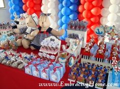 Nautical baby shower invitations, decorations, themed ideas, favors, theme games & centerpieces for an awesome event!