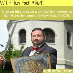 demands trial by combat in new york wtf WTF Facts : funny, interesting & weird factsWTF Facts : funny, interesting & weird facts Wtf Fun Facts, Funny Facts, Funny Memes, Hilarious, Jokes, Random Facts, What The Fact, The More You Know, History Facts