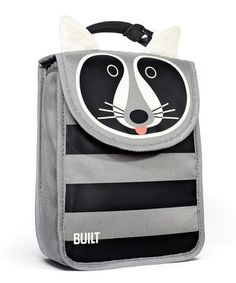 This adorable insulated raccoon lunch sack is sized just for smaller appetites. It keeps kids' lunches at proper temperatures for up to four hours and is easy to wipe clean after each use.