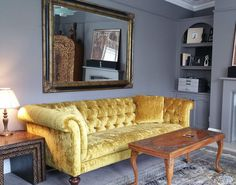 Yellow textured velvet