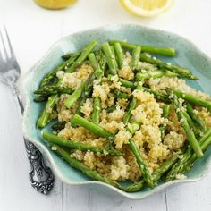 how to make vegan quinoa and asparagus with lemon mustard vinaigrette