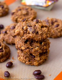 Healthy Oatmeal Raisinet Cookies by Sally's Baking Addiction