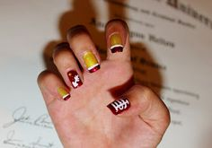 Simple Nail Art for Newbies: FSU Nails ~ GO NOLES!