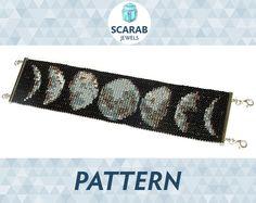 Bead Loom Pattern: Moon Phases Bracelet / Cuff by ScarabJewels