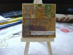 Imaginaire/Create Mini Collage on canvas by ArtandBookShop on Etsy, $20.00