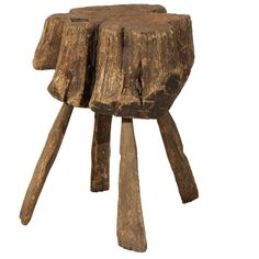 Belgian 19th Century Rustic Tree Stump Drink Table   From a unique collection of antique and modern side tables at https://www.1stdibs.com/furniture/tables/side-tables/