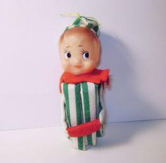 Vintage 40s Christmas Elf Doll Shelf Sitter | Christmas elf doll ...