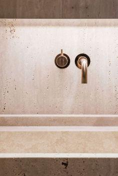 marmor-marmorporno-travertin-interieur-innenarchitektur-bad-vola-pinsel - The world's most private search engine Bathroom Spa, Small Bathroom, Bathroom Showers, Remodel Bathroom, Budget Bathroom, Bathroom Ideas, Shower Ideas, Bathroom Interior Design, Home Interior