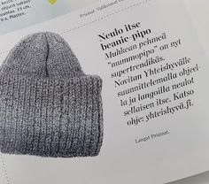 "Ruusu-unelmia ja villasukkia: DIY - Neulottu beanie-pipo, ""mummopipo"" Diy Clothes Accessories, Knitting Accessories, Knitting Projects, Knitting Patterns, Knit Crochet, Crochet Hats, Beanie, Hat And Scarf Sets, Drops Design"