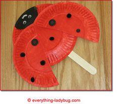 pinterest/ladybugs | http://everything-ladybug.com/ladybug-paper-plate-craft.html '