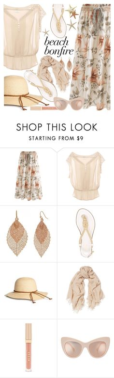"""Beach Bonfire"" by brendariley-1 ❤ liked on Polyvore featuring Pull&Bear, Bold Elements, MICHAEL Michael Kors, Chan Luu, Stila, STELLA McCARTNEY and beachbonfire"