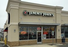 Set of LED Illuminated channel letters and wall sign for Jimmy John's in Sandusky, Ohio.