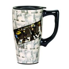 Spoontiques The Beatles Abbey Road Travel Mug Abbey Road, The Beatles, Ceramics, Microwave, Dishwasher, Tableware, Beverage, Gifts, Travel Mugs
