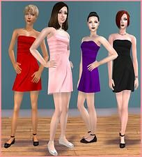 Mod The Sims - Valentine Formals For Teens - 4 Dresses