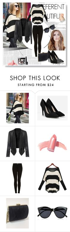 """""""Untitled #39"""" by mila96h ❤ liked on Polyvore featuring CHARLES & KEITH, Elizabeth Arden, Topshop, Chanel, Le Specs and simpledress"""