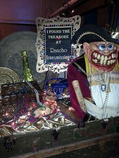 Rancho Transmissions costume party treasure. Tricia Manzo
