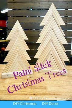 Stick Christmas Tree, Christmas Wood Crafts, Diy Christmas Ornaments, Rustic Christmas, Christmas Projects, Christmas Tree Decorations, Holiday Crafts, Holiday Decor, Diy Craft Projects