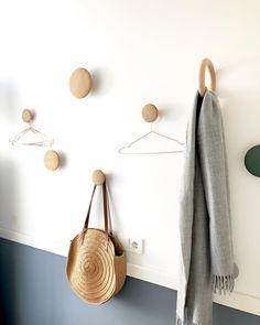 Foyer Storage, Small Hallways, Coat Hanger, Living Room Decor, Color Schemes, Dots, Cabinet, Bathroom, Instagram