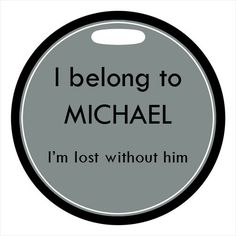Luggage Tag I Belong To . Im Lost Without Him by ebonypaws Old Luggage, Travel Luggage, Travel Bags, Im Lost, Clear Stickers, Id Tag, Travel Themes, Travel Quotes, Just In Case
