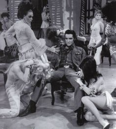 Elvis Presley during the 'Let Yourself Go' dance number of the Bordello sequence - NBC TV Special 1968