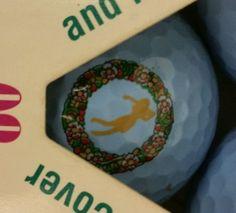 Vintage triangular package of 3 blue Golden Girl surlyn golf balls old logo NIB - http://sports.goshoppins.com/golf-equipment/vintage-triangular-package-of-3-blue-golden-girl-surlyn-golf-balls-old-logo-nib/