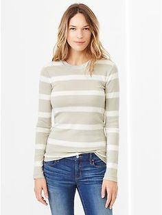 Supersoft stripe crewneck tee - A lightweight layering piece that looks great on its own.
