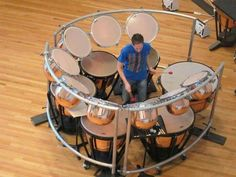 A timpani players hell or heaven.....