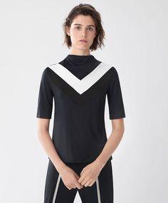 T-shirt col cheminée - Nouveautés - Dernières tendances Automne Hiver 2016 en…