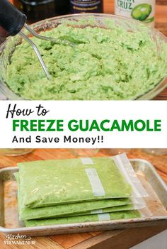 How to freeze guacamole. This would be great when your avocados are going bad or you find some on sale!
