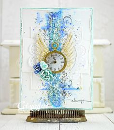 always - Scrapbook.com - Stunning textures and colors on this lovely, layered handmade card.