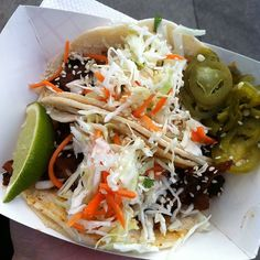 Spicy Pork Tacos @ Marination Station
