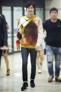 2014-9-3 at Incheon Airport from Hong Kong | Lee Min Ho