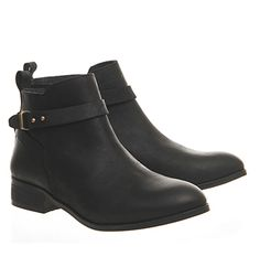 Office Instinct Ankle Boots With Trim Black Leather - Ankle Boots