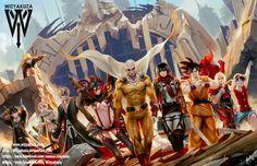 Anime vs. Justice League 11 x 17 Digital Print by Wizyakuza