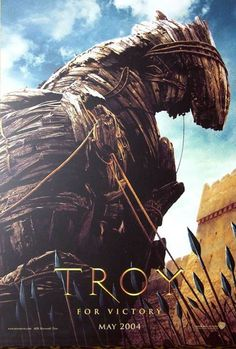 Official theatrical movie poster ( of for Troy Directed by Wolfgang Petersen. Troy Movie, I Movie, Best Action Movies, Great Movies, Brad Pitt, Trojan War, Trojan Horse, City Of Troy, Films Cinema