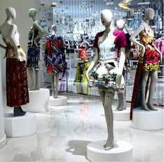 The Mary Katrantzou archive on display at ''The Room'' in Hudson's Bay (Canada). Bay Canada, Hudson Bay, Mary Katrantzou, A Boutique, Archive, Display, Unique, Prints, Fashion Design