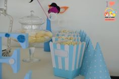 articole-petrecere-candy-bar-polka-dots-albastru Polka Dots, Candy, Bar, Desserts, Food, Tailgate Desserts, Deserts, Essen, Postres