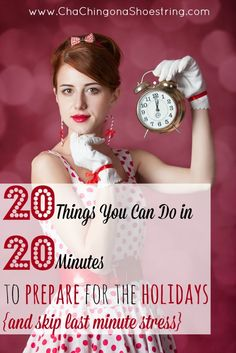 Skip last minute Christmas stress! Try these 20 Minute Missions instead. Brilliant!