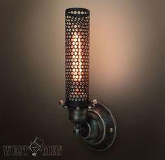 Custom Made Westmenlight Industrial Wrought Iron Wall Sconce Lamp Art Deco Light Black