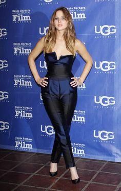 Jennifer Lawrence in Stella McCartney Autumn '13 midnight Valerie all-in-one at the 28th annual Santa Barbara International Film Festival.
