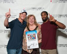 Chillin with Michael Griffin, & Marc Mariani at the Leukemia & Lymphoma Society Man & Woman of the Year Fundraiser at the HBAMT office in Brentwood. #Titans #Nashville House & Home & Garden Magazine