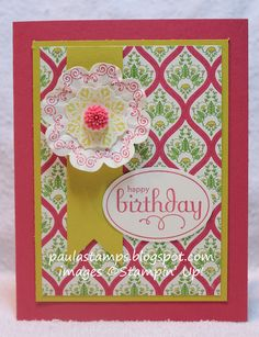 Print Poetry DSP and Daydream medallions Stampin' with Paula